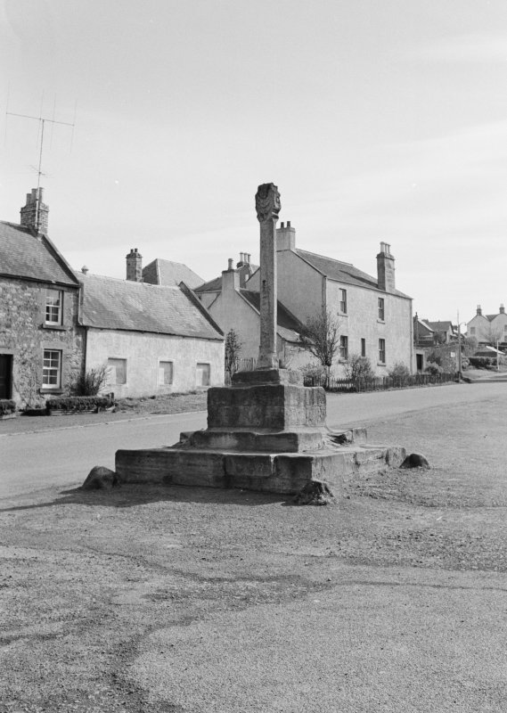 General view of Cockburnspath Market Cross.