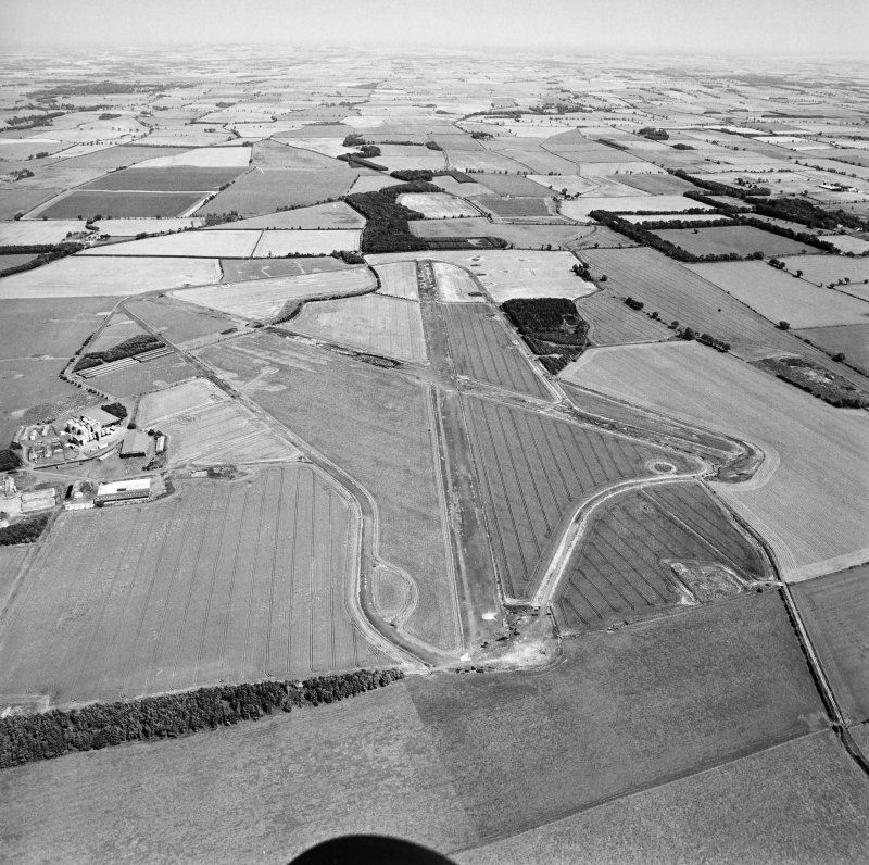 Oblique aerial view centred on the airfield, taken from the WSW.