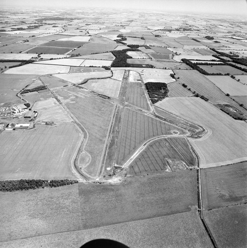 Oblique aerial view centred on the airfield, taken from the SW.