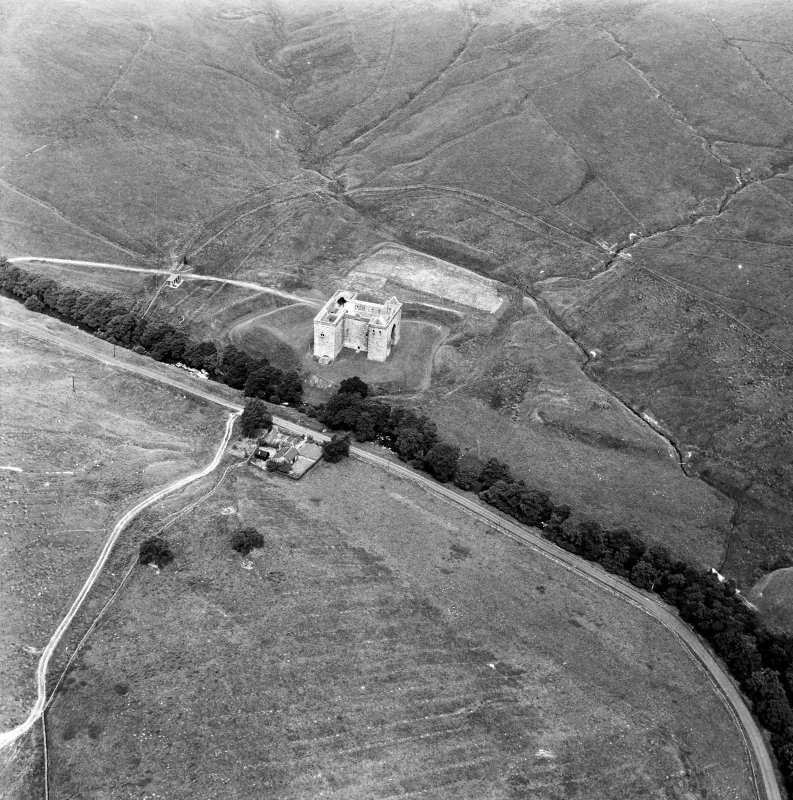 Hermitage Castle Aerial view from South East