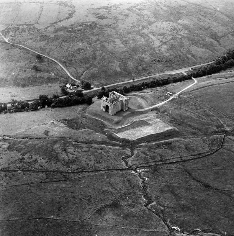 Hermitage Castle Aerial view from North East