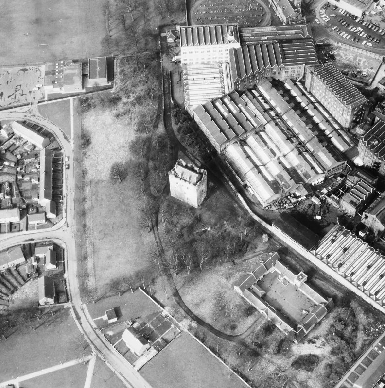 Aerial view of mill.