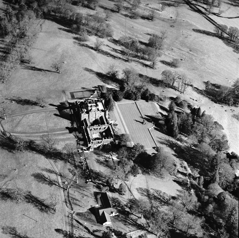Oblique aerial view, taken from the SW.