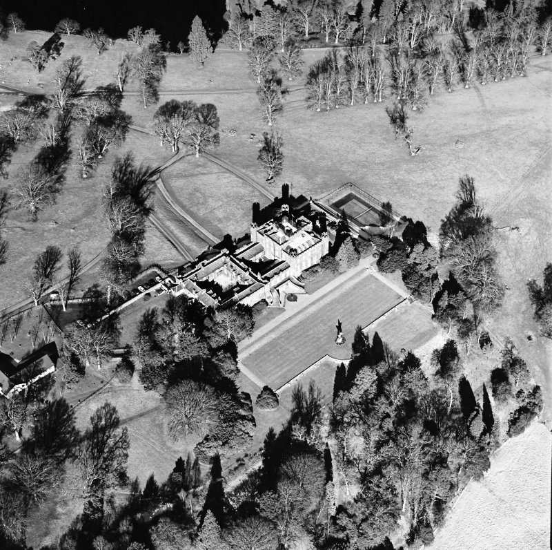 Oblique aerial view, taken from the S.