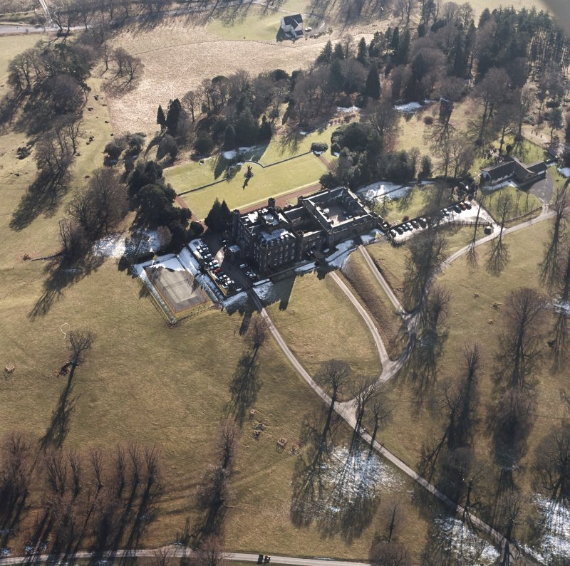 Oblique aerial view, taken from the NNW.