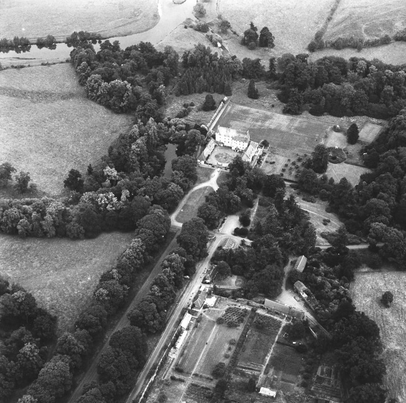 Traquair House Aerial view from South