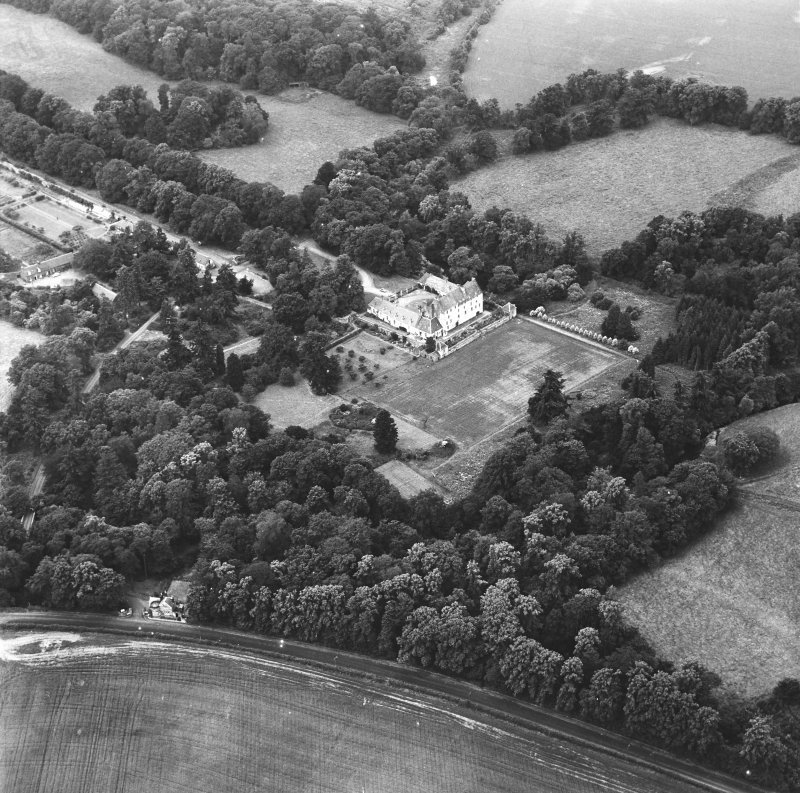 Traquair House Aerial view from East
