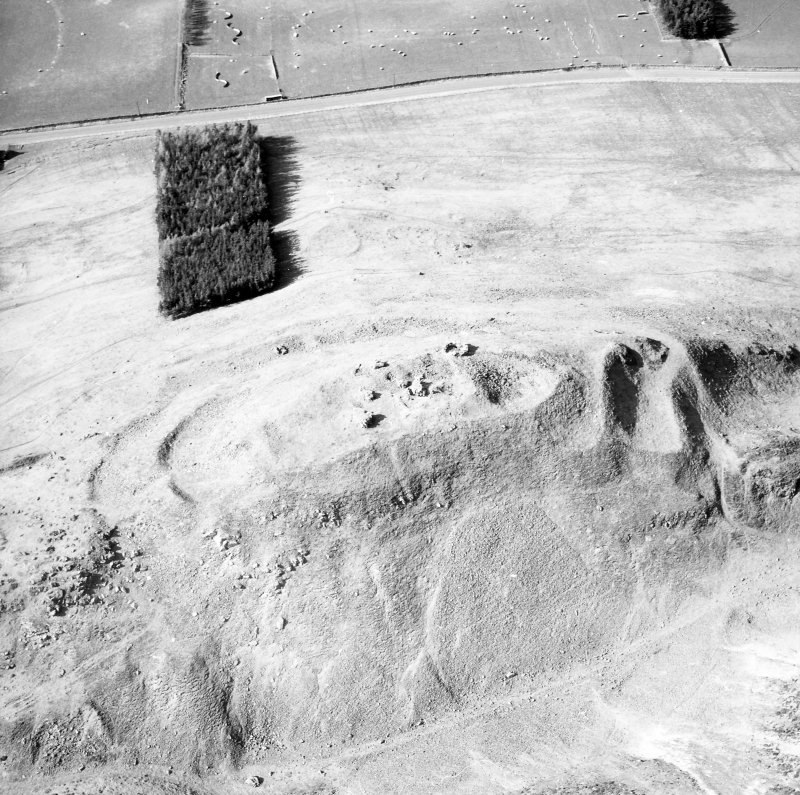 Oblique aerial view centred fort and castle from SE.
