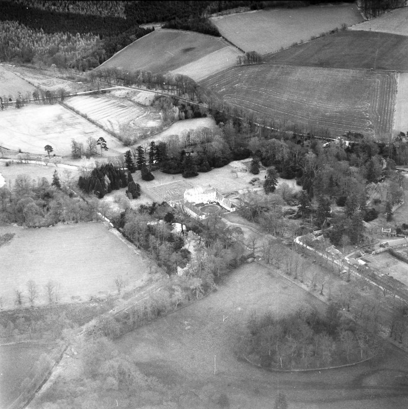 Traquair House Aerial view from West