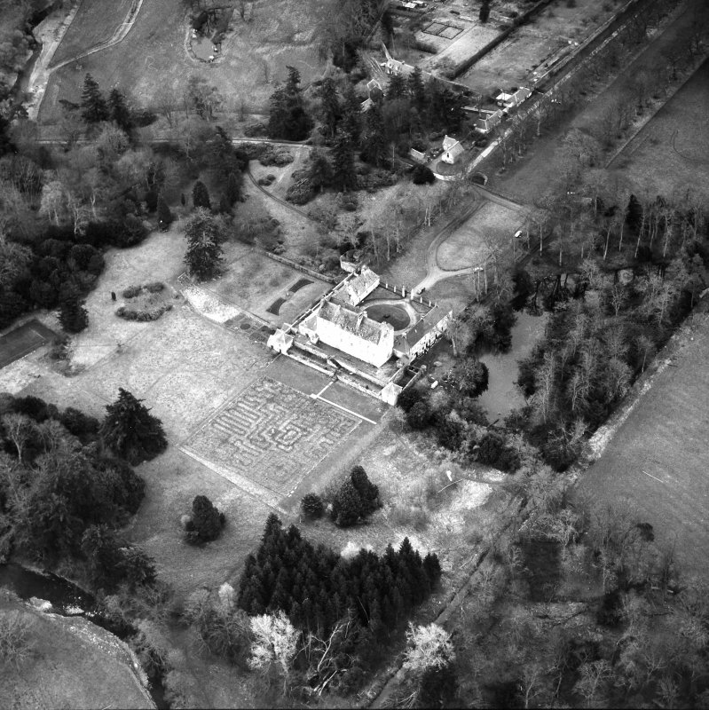 Traquair House Aerial view from North