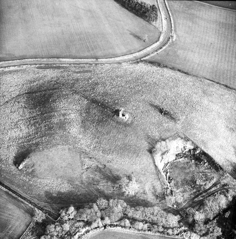 Oblique aerial photograph centred on tower and fort from W.