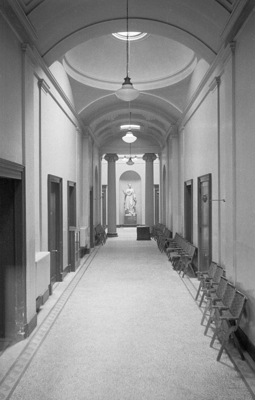 Interior view of the Music Hall, Union Street, Aberdeen, showing entrance hall.