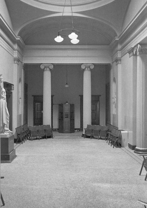 Interior view of the Music Hall, Union Street, Aberdeen, showing foyer and corridor.