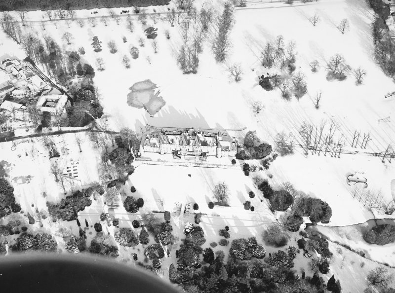 Aerial view in snow.