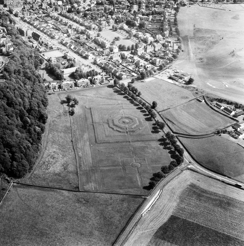 Oblique aerial view from NW.