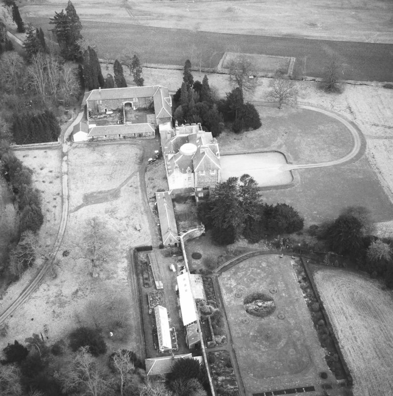 Oblique aerial view from W.