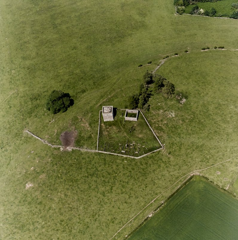Oblique aerial view from S.