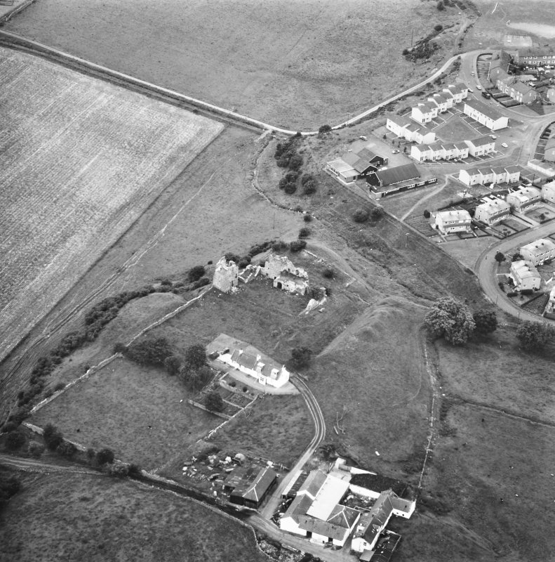 Oblique aerial view from SE.