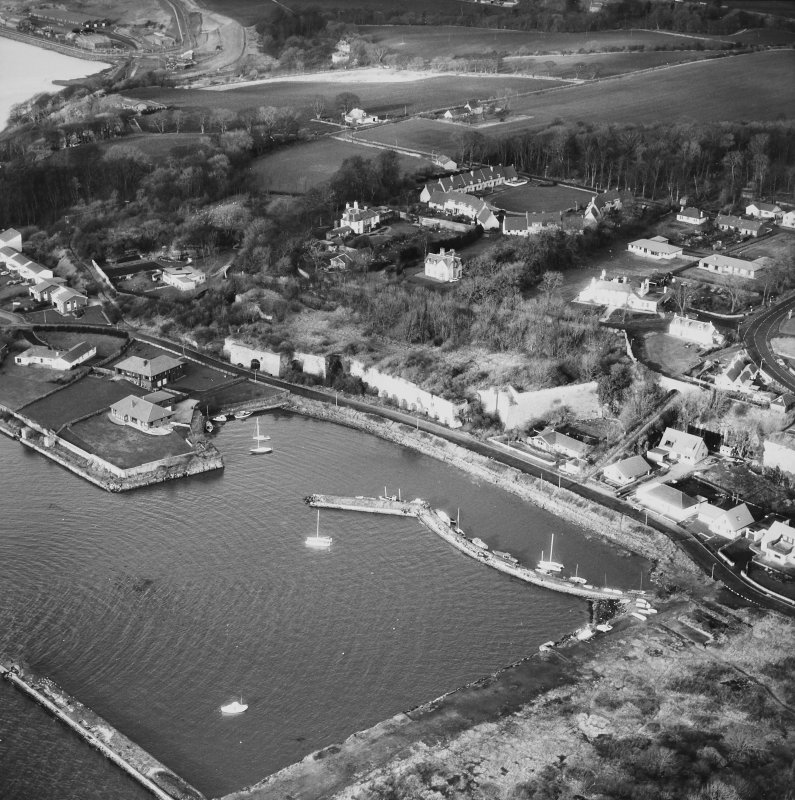 Aerial view of Charlestown including Limekilns and Harbour