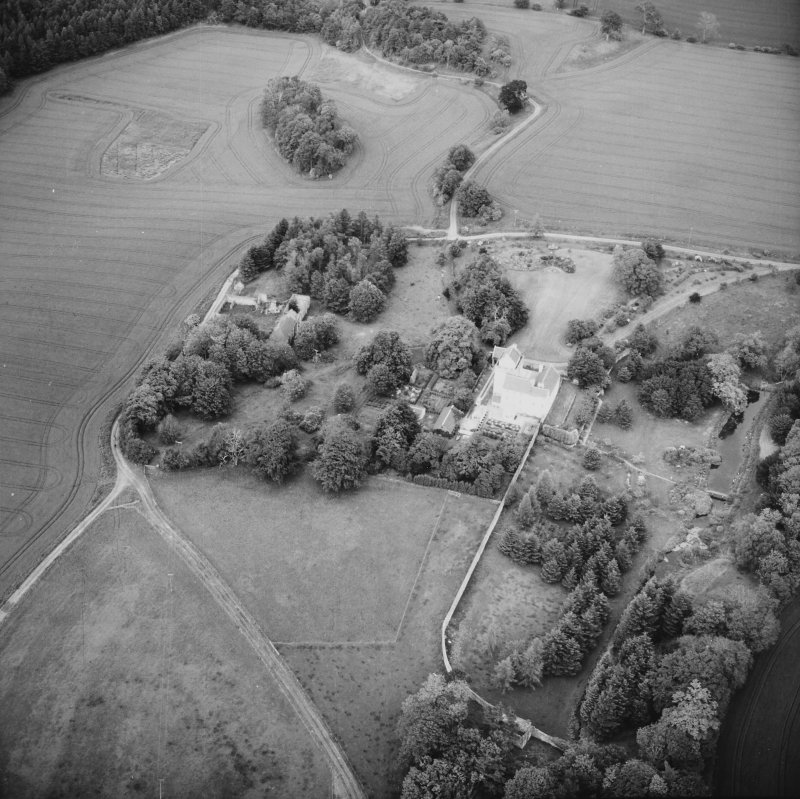 Aerial view of Balmuto Tower ruins