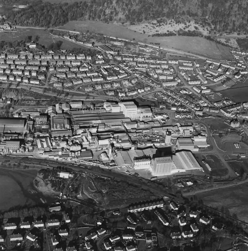 Oblique aerial view centred on the Alumina Works, taken from the S.