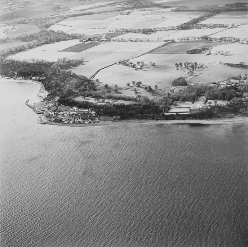 General aerial view of West Wemyss and Wemyss Castle, taken from the SE.