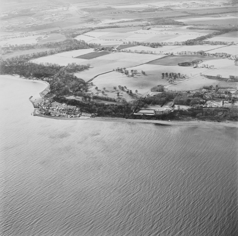 General aerial view of West Wemyss and Wemyss Castle, taken from the E.
