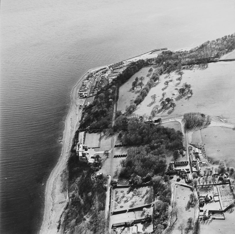 General aerial view of West Wemyss and Wemyss Castle, taken from the NE.
