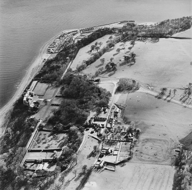 General aerial view of West Wemyss and Wemyss Castle, taken from the N.