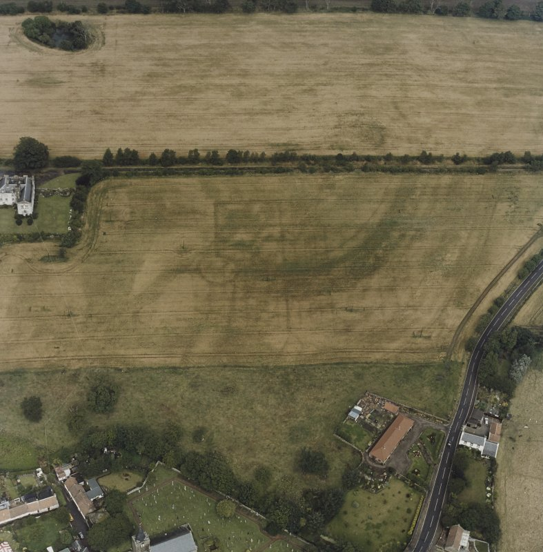 Aerial view of Innergellie House, Walled Garden, Doocot and East Lodge and Gatepiers