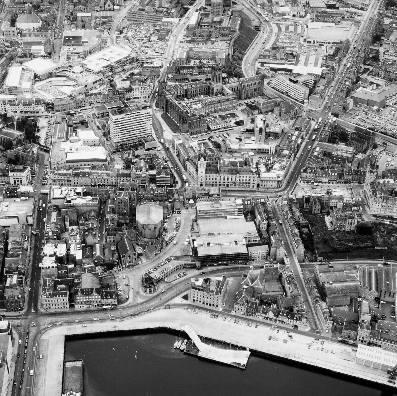Aberdeen, City Centre. Aerial view of City Centre.