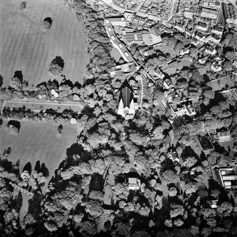 Aberdeen, Old Aberdeen, St Machar's Cathedral, oblique aerial view, taken from the W.