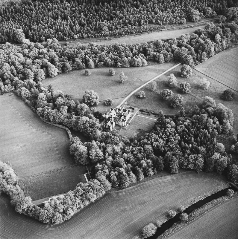 Oblique aerial view, taken from the N.