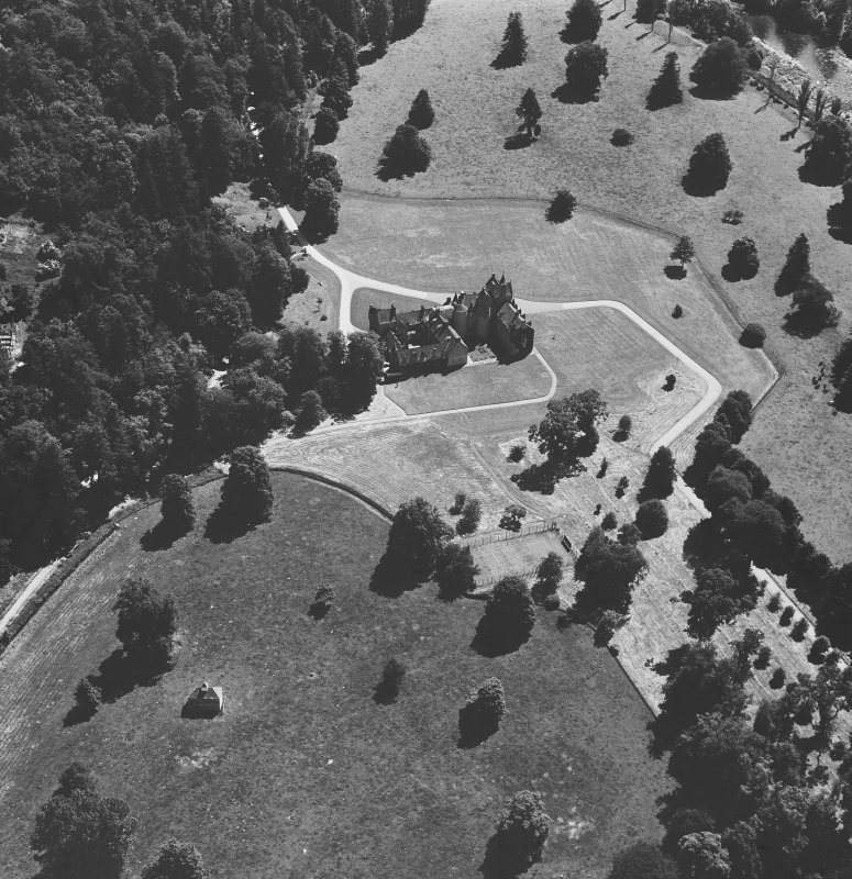 General oblique aerial view from NW.