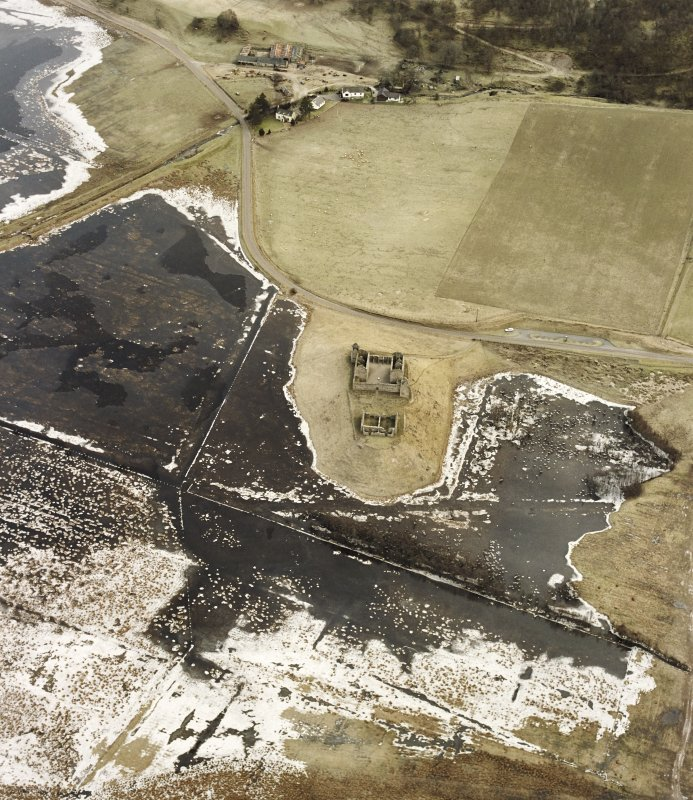 Ruthven Barracks, oblique aerial view, taken from the WNW.