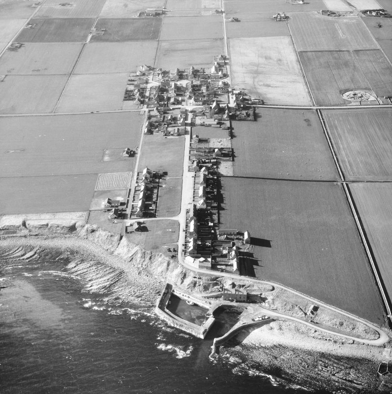 Aerial photograh showing village and harbour