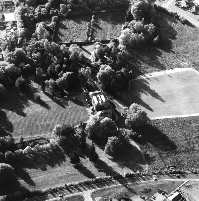 Aerial view showing Culloden House, walled garden and the Garden Mansion House