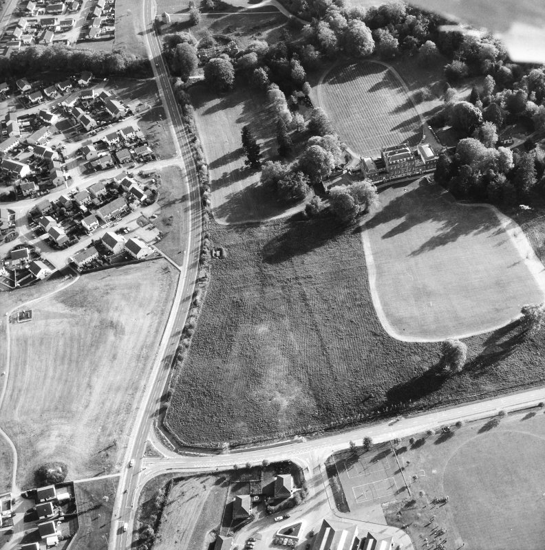 Aerial view showing the stables, dovecot and Culloden House