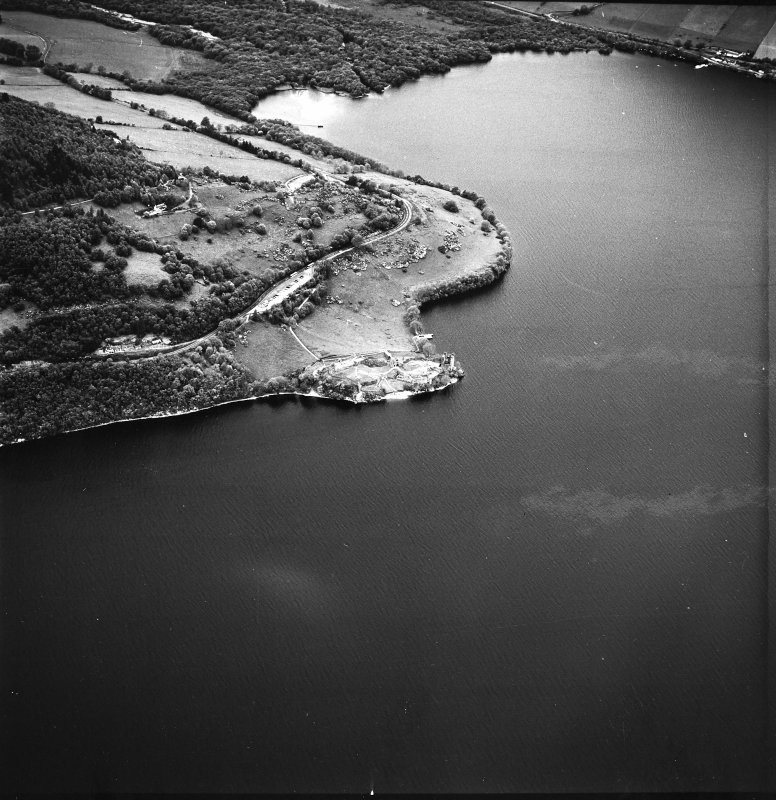 Urquhart Castle, oblique aerial view, taken from the S