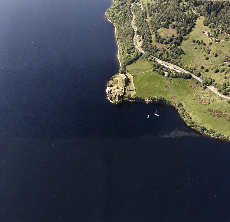 Urquhart Castle, oblique aerial view, taken from the NE.