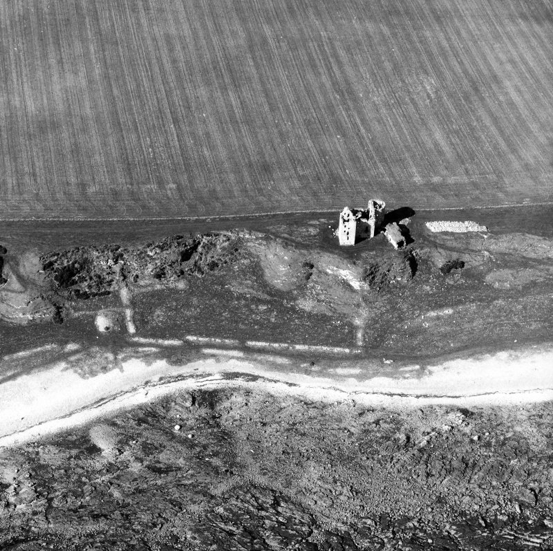 Aerial view of Ballone Castle and Ballone Castle, Boundaries