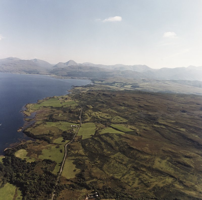 General aerial view of Loch Ewe and Inverasdale, taken from the N.