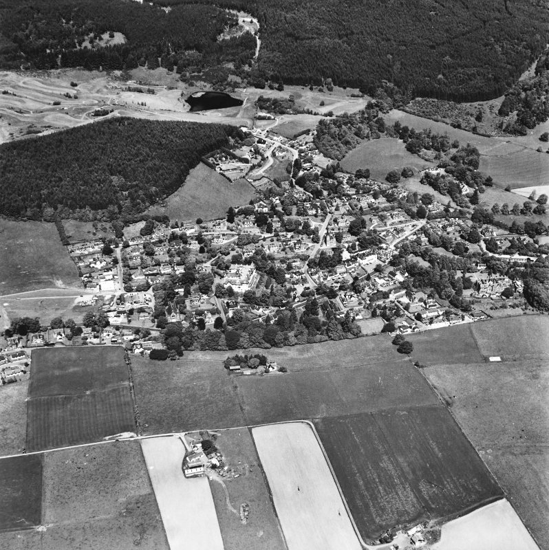 Strathpeffer, oblique aerial view, taken from the SE, showing a general view over Strathpeffer.