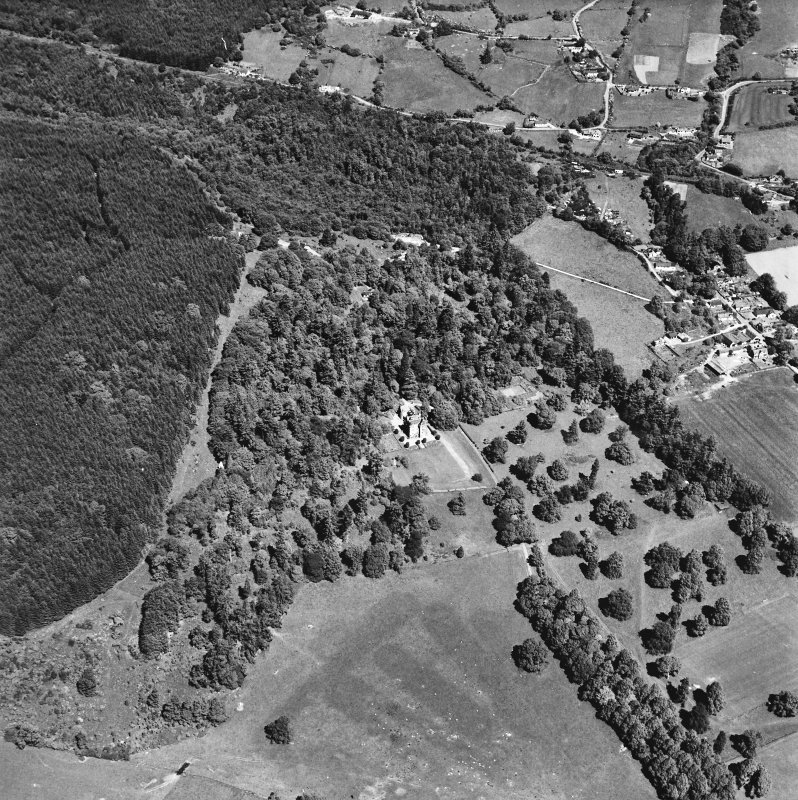 Castle Leod. Oblique aerial view, taken from the S.