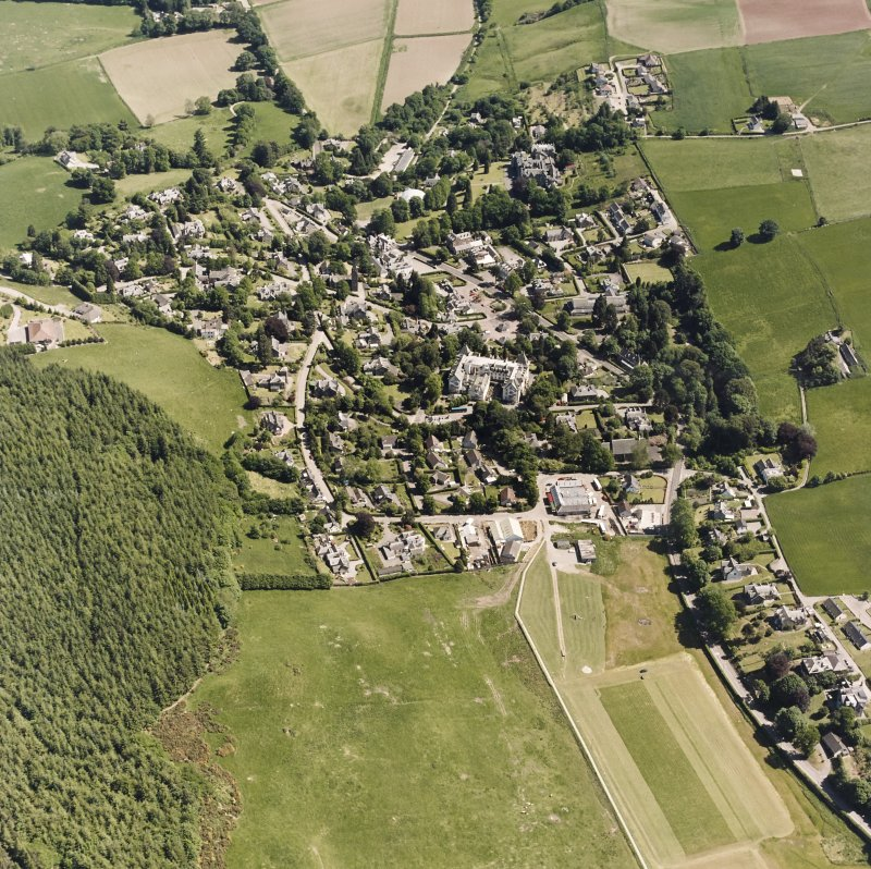 Strathpeffer, oblique aerial view, taken from the SW, showing a general view over Strathpeffer.