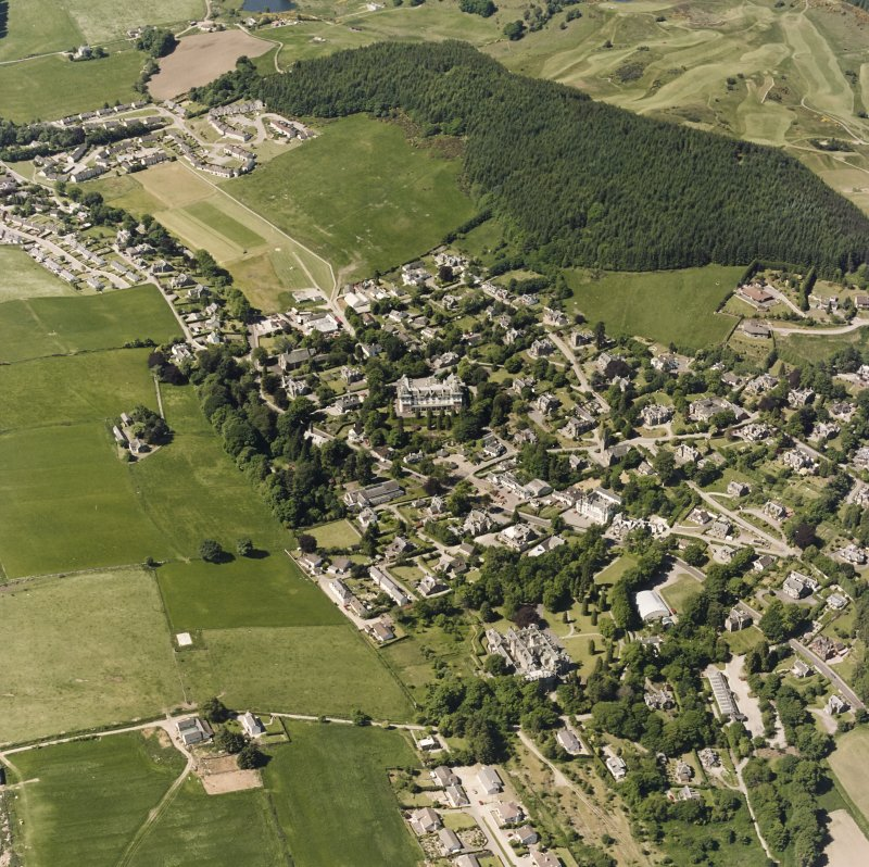 Strathpeffer, oblique aerial view, taken from the NE, showing a general view over Strathpeffer.
