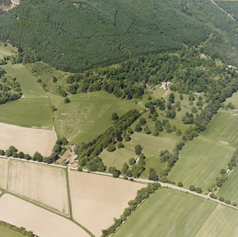 Castle Leod. Oblique aerial view, taken from the SE.