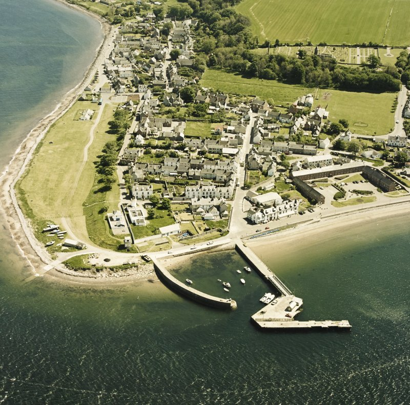 Aerial view of the town of Cromarty, taken from the N.