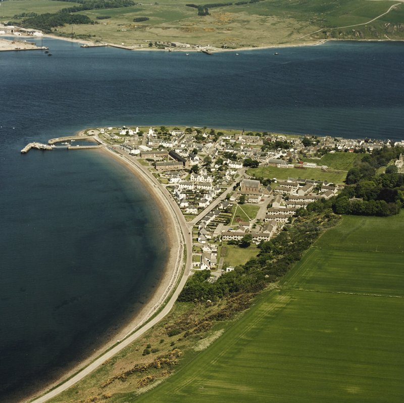 Aerial view of the town of Cromarty, taken from the SSW.