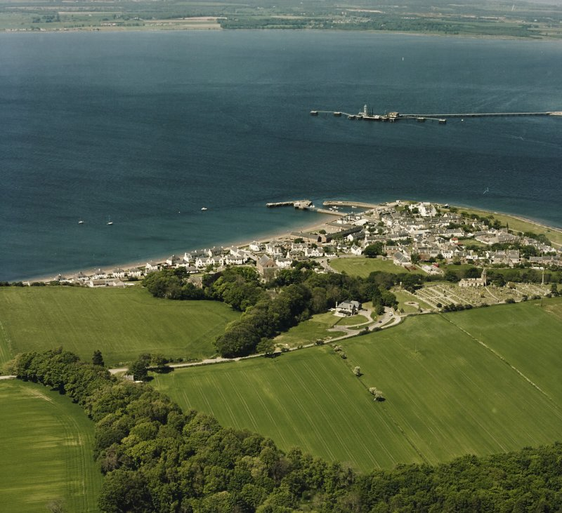 Aerial view of the town of Cromarty, taken from the SE.
